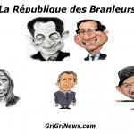 """Élections présidentielle 2012 en France: caricature des candidats """"Guignol"""""""