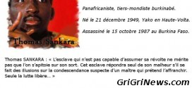Citations de l'Homme Intègre Thomas Sankara