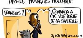 Dessin de presse : quand Barack Obama téléphone à François Hollande