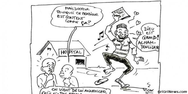 Dessin de presse par «Oscar» de Guinée Conakry sur le virus Ebola
