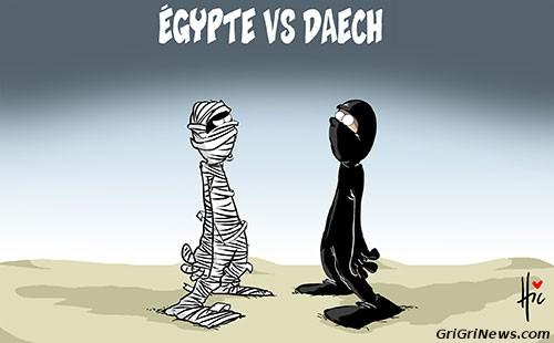 Dessin de presse Égypte VS Daech (EI)…