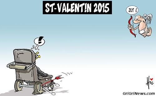 Dessin de presse sur la St-Valentin 2015 et le président Bouteflika en Algérie