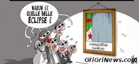 Dessin de presse Algérie : le phénomène astronomique de l'éclipse