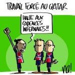 Dessin de presse : travail forcé au Qatar le PSG se rebelle…