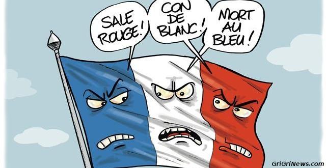 Dessin de presse : la France raciste et les couleurs…