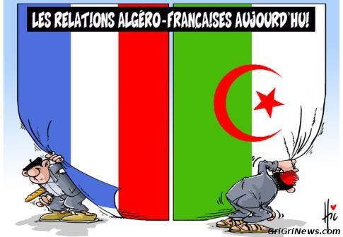 Dessin de presse sur les relations entre la France et l'Algérie…